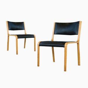 German Model 402 Bentwood Side Chairs by Wilhelm Ritz for Wilkhahn, 1960s, Set of 2
