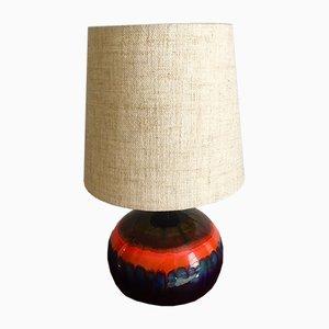 Lámpara francesa de cerámica, años 60