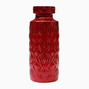 Red Amsterdam Vase from Scheurich, 1960s