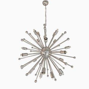 Lámpara de araña Sputnik italiana, años 70