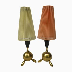 Kleine Mid-Century Tischlampen, 2er Set