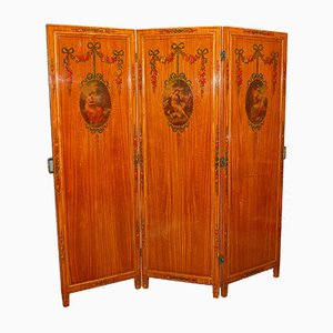 Painted Screen with Beveled Mirrors, 1900s