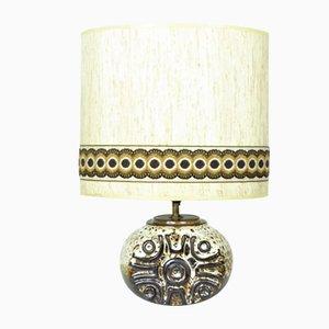 Lámpara de cerámica con decoración solar, años 70