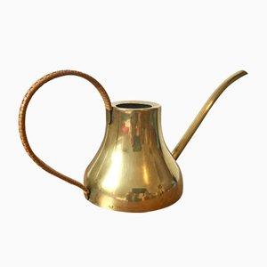 Brass & Cane Watering Can by Harald Buchrucker for Werkstatt für Kunstgewerbliche Metallarbeit Ludwigsburg, 1950s