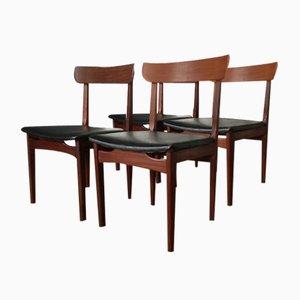 Skandinavische Vintage Skai Stühle, 4er Set