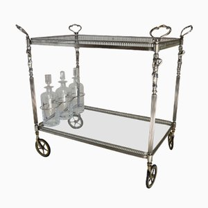 French Silvered Drinks Trolley, 1950