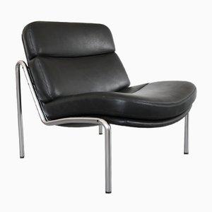 Chaise en Cuir par Jørgen Kastholm pour Kusch & Co, 1970