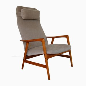 Kontur Highback Lounge Chair by Alf Svensson for Ljungs Industrier, 1950s