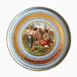 Grande Assiette de Royal Vienna Porcelain, 1880s