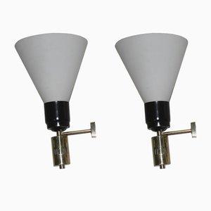 Lámparas de pared italianas grandes, años 60. Juego de 2
