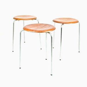 Taburetes DOT vintage de Arne Jacobsen para Fritz Hansen. Juego de 3