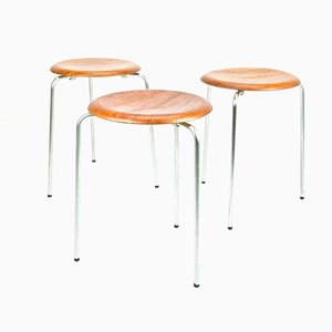 Vintage DOT Stools by Arne Jacobsen for Fritz Hansen, Set of 3