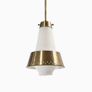 Lámpara colgante grande de Jonas Hidle para Høvik Verk, años 50