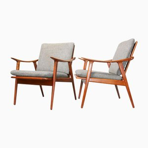 Mid-Century Modell 563 Sessel von Fredrik Kayser für Vatne Lenestolfabrikk, 2er Set