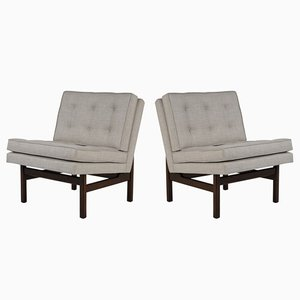 Mid-Century Slipper or Lounge Chairs, Set of 2