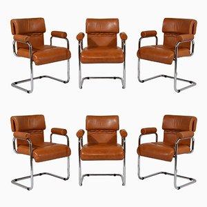 Chaises de Salon Mid-Century par Mariani, Italie, Set de 6