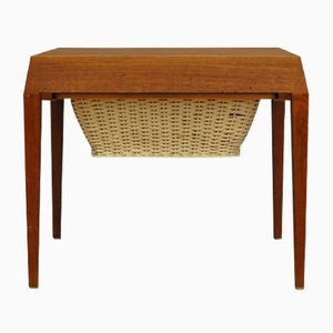 Mid-Century Teak Sewing Box by Severin Hansen, 1960s