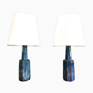 Vintage Danish Ceramic Table Lamps by Einar Johansen for Soholm, Set of 2