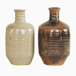 Tokkuri Sake Bottles by Pierre Digan and Janet Stedman for Digan Grès, 1970s, Set of 2