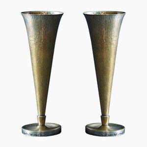 Vases Modèle 388 par Richard Riemerschmid pour Wmf, 1930s, Set de 2