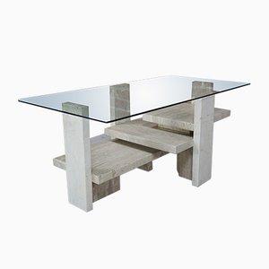 Table Avec Plateau en Verre par Willy Ballez, 1970s