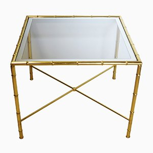 Table Vintage en Laiton, 1950s
