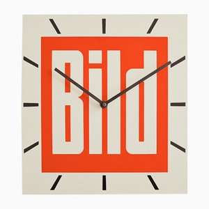 Advertising Bild Wall Clock from Dragon Werbemittelwerk, 1979