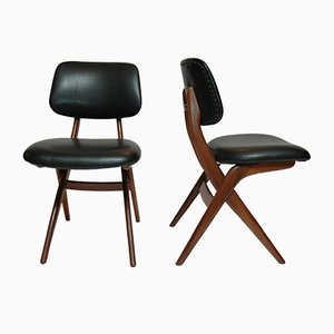 Mid-Century Pelican Chairs by Louis van Teeffelen for Webe, Set of 4