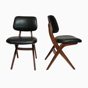 Mid-Century Pelican Stühle von Louis van Teeffelen für Webe, 4er Set