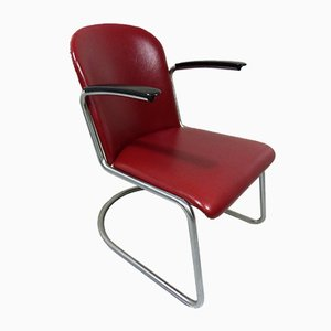 Mid-Century Tubular Model 413 Lounge Chair by W.H. Gispen