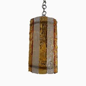 Lámpara de techo Mid-Century de cristal de Murano