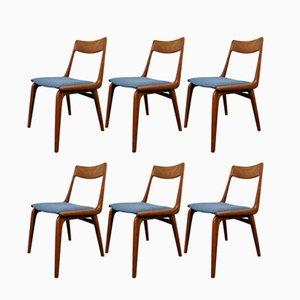 Chaises de Salon Boomerand Mid-Century par Alfred Christensen pour Slagelse Møbelværk, Set de 6