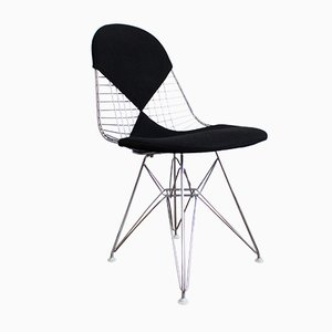 Chaise Wire DKR-2 avec Tapisserie Bikini de Vitra Design Ray and Charles Eames