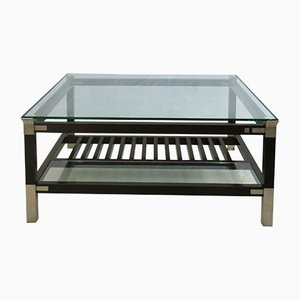 Coffee Table with Glass Top by Pierre Vandel, 1970s