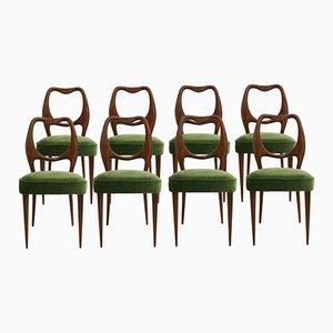 Sedie da pranzo vintage di Vittorio Dassi, anni '50, set di 8