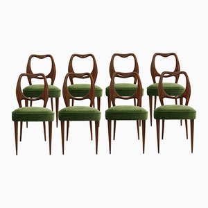 Vintage Esszimmerstühle von Vittorio Dassi, 1950er, 8er Set