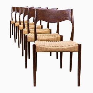 71 Esszimmerstühle von Niels Otto Møller für J.L. Møller, 1960er, 6er Set