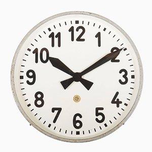 Reloj de fábrica o estación grande de Chomutov, años 30