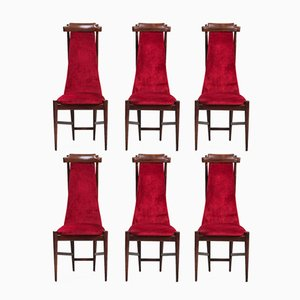 High Back Dining Chairs, Set of 6
