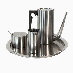 Kaffee-Set aus der Cylinda Serie von Arne Jacobsen für Stelton, 1967