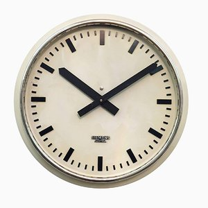 Austrian Factory or Workshop Wall Clock from Siemens, 1955