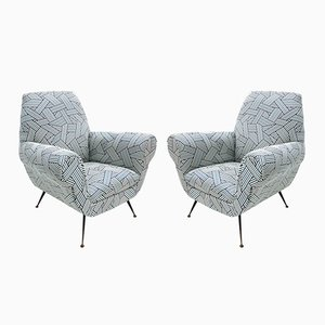 Armchairs by Gigi Radice for Minotti, 1950s, Set of 2