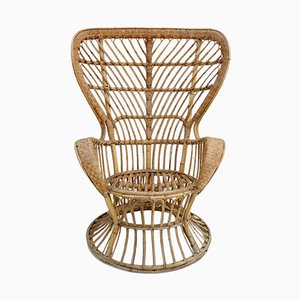 Rattan Armchair by Lio Carminati for Bonacina