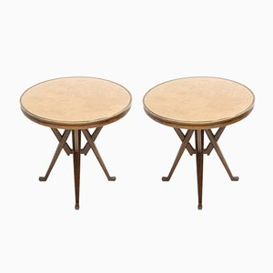 Vintage Ash Side Tables, 1950s, Set of 2