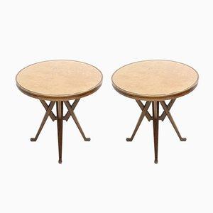 Vintage Ash Side Tables, 1950s, Set of 2
