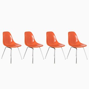 Vintage DSX Fiberglass Chairs by Charles & Ray Eames for Herman Miller, Set of 4