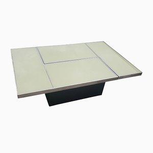 Tavolino da caffè Mid-Century moderno con ripiano scorrevole di Belgo Chrom