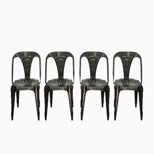Chaises Industrielles Vintage par Joseph Mathieu pour Multipl's, Set de 6