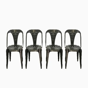Vintage Industrial Chairs by Joseph Mathieu for Multipl's, Set of 6