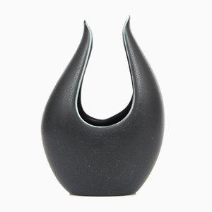 Kleine Schwarze Caolina Vase von Gunnar Nylund für Rörstrand, 1960er